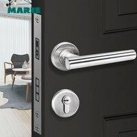 Lh1004 tubo de aço inoxidável moderno maçaneta da porta  fechadura da porta com punho|Maçanetas|Renovação da Casa -