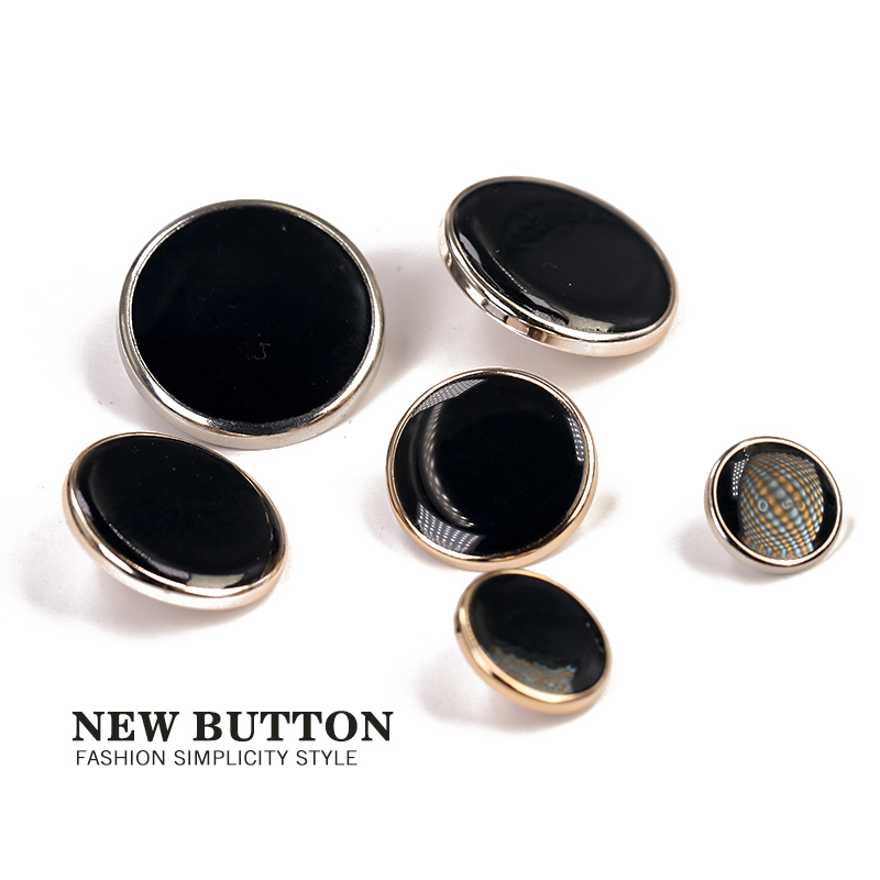 Plastic Black Golden Silver Buttons for Clothing 25mm 30mm Sewing Accessories 11mm 15mm Plating ABS Button Garment Decorative