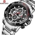 NAVIFORCE  новинка  мужские часы из нержавеющей стали  Топ бренд  роскошные спортивные кварцевые часы с хронографом для мужчин  Relogio Masculino