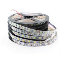 5050 RGB CCT LED tira de luz 12V RGB Flexible decoración del hogar luces SMD 12V impermeable LED Cinta Blanca lámpara de cinta de neón con banda led(China)
