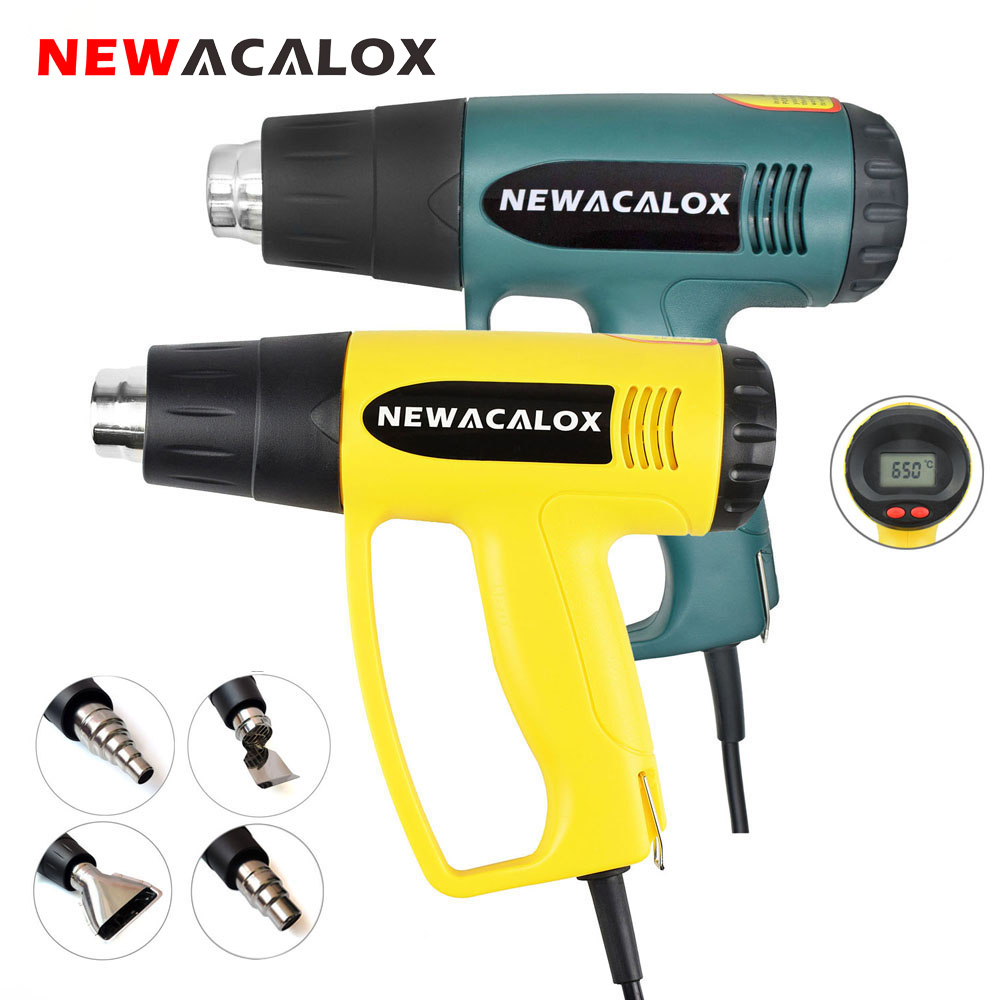 NEWACALOX 2000W 220V EU Plug Industrial Electric Gun Gun Air - ابزار برقی