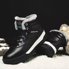 Men Winter Hiking Shoes Waterproof Leather Climbing Mountain Shoes Warm Fur outdoor Sneakers Big Size 39-48 Trekking Snow Boots