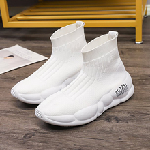 Summer Womens Sneakers On The Platform Wedges Air Mesh Comfortable High Top Woman Casual Rubber Sock Sneaker Women
