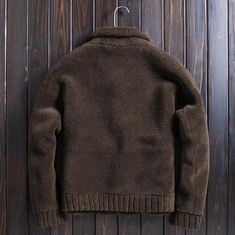 Sheep Shearing Wool Jacket Autumn Winter Real Fur Coat Men Plus Size Double-sided Wear Abrigo Hombre WpJM1020 KJ3820