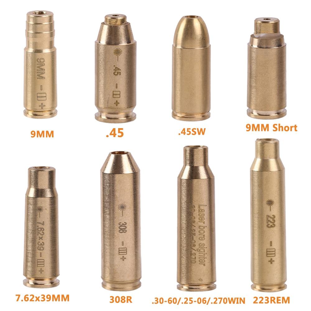 Тактический красный точечный Лазер, прицел из латуни и меди, 9 мм, 7,62x39 мм, 308, 223, 40, 45, картридж для прицела, охоты
