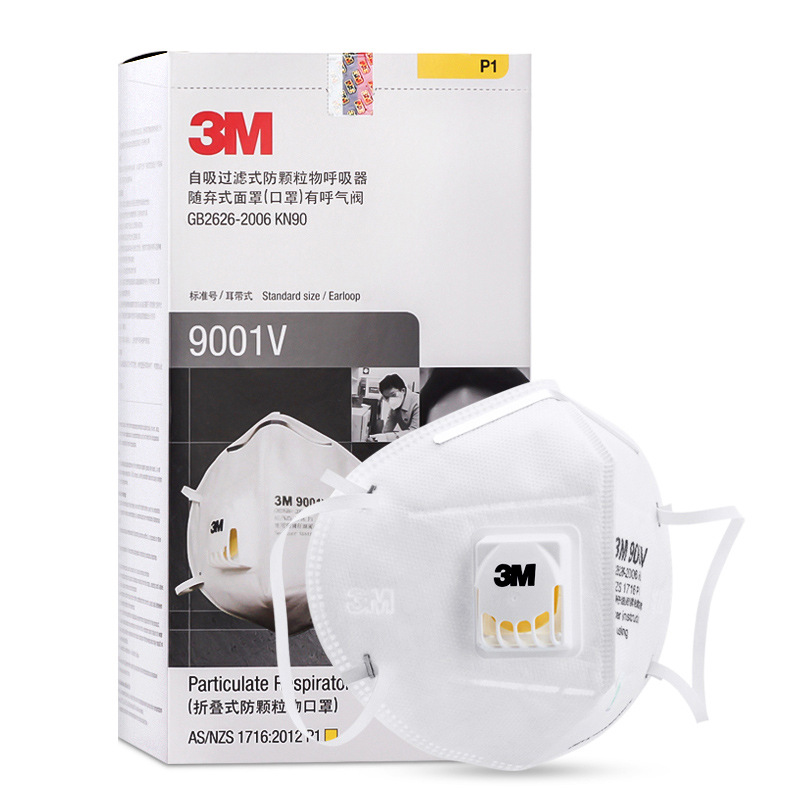 3M Face Mask 9001V Dustproof Anti-fog Haze PM2.5 Face Mask With Breather Valve Anti-Industrial Dust Men And Women Riding Breatha