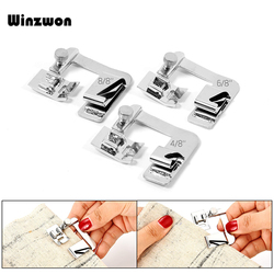 3Pcs Domestic Sewing Machine Foot Presser Rolled Hem Feet Set For Brother Singer Janome Babylock Juki Sewing Machine Accessories
