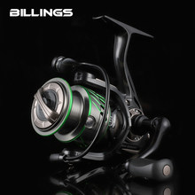 BILLINGS MK 1500 2500 8+1BB Spinning fishing Reel UL fishing 7kg Max Drag 5.2/6.2 Gear Ratio 208g/250g Shallow Spool Saltwater