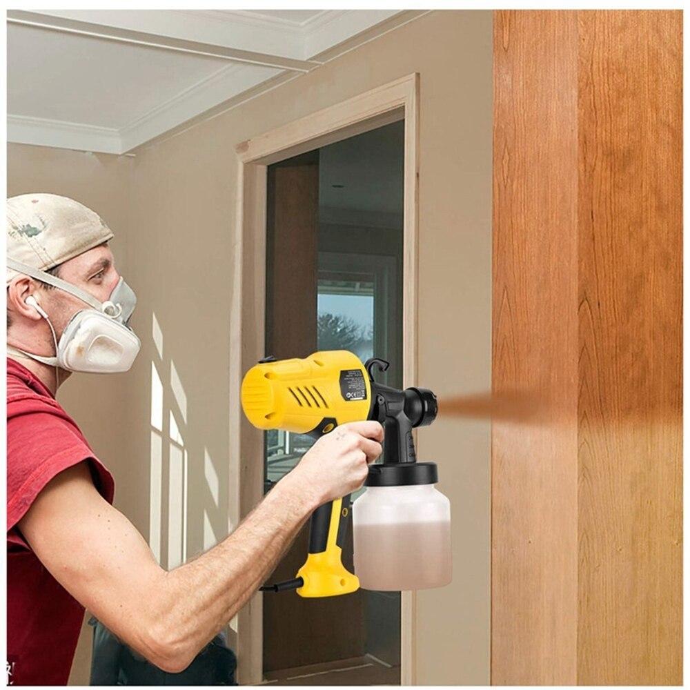 2 5mm Nozzle 800ML Handheld Spray Gun  Paint Sprayers 220V High Power Home Flow Control Electric Paint Spray Gun Easy Spraying