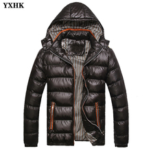 Men's Brand Clothing Winter Jacket Coats Warm Thick Male Zipper Jackets Padded Casual Hooded Parkas Parka Men Overcoats Casual цена в Москве и Питере