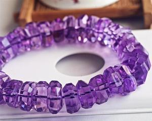 Image 4 - Натуральный Бразильский аметистовый кварцевый кристалл лаванды 14 мм, прозрачные граненые бусины, браслет для женщин и мужчин, модный сертификат AAAAA