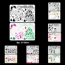 Merry Christmas DIY Layering Stencils Wall Painting Scrapbook Coloring Embossing Album Decorative Paper Card Template Reusable merry christmas tree sticker painting stencils for diy scrapbooking stamps home decor paper card template decoration album craft