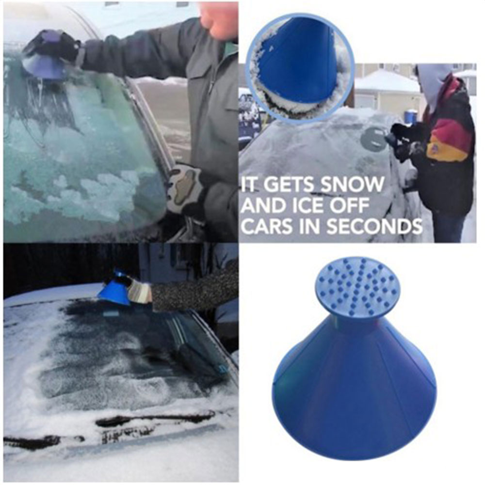 Auto Glass Snow Thrower Deicer Multifunctional Snow Thrower Plastic Conical Funnel Water Feeder