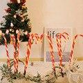 Экологичное Тростниковое освещение для садовых дорожек 110 в Рождественское украшение 10 колья прочный костыль лампа атмосфера сад США штеке...