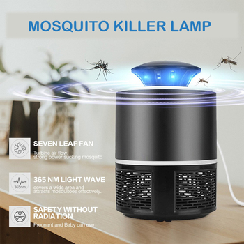 LED Mosquito Killer Lamp bug zapper insect trap Radiationless USB Electric No Noise No Radiation Pest Insect Repellents For Baby
