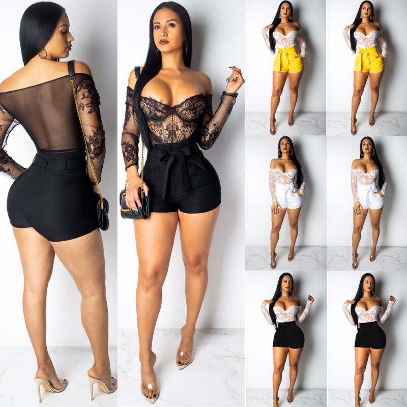 Fashion Women Summer Hot Stylish Loose Belt Beach High Waist Short Trousers Ladies Bandage Solid Shorts Clothing