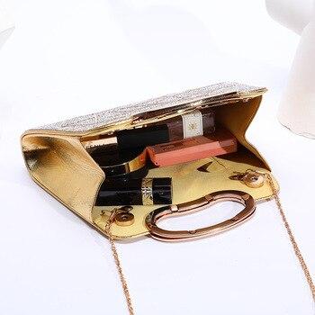 Evening  Luxury Designer Irregular Crystal Rhinestone PU Leather Shoulder Bag  3
