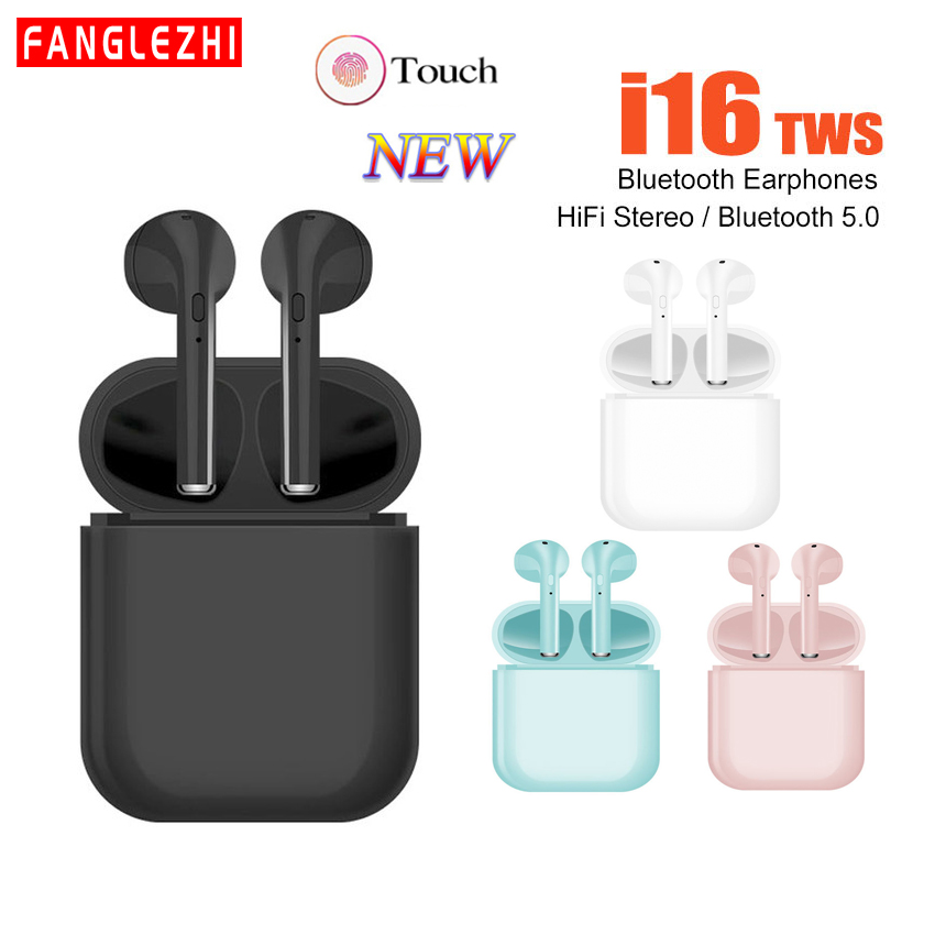 I16 TWS Headphones Wireless Bluetooth Earphone 5.0 Sport With Charger Headsets With Microphone Music Earphones For Ios Android