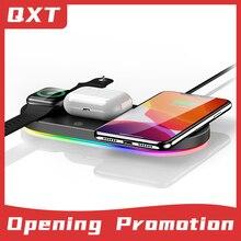 Зарядное устройство 3 в 1 для apple watch, Быстрое беспроводное зарядное устройство для смартфонов iWatch, BlueTooth наушники для iAirpods Qi, многофункционал...