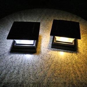 Image 3 - שמש LED עמוד אור חיצוני הודעה מנורת ABS חיובי לבן/חם אור NiMH 1.2V עמיד למים גדר אורות עבור גן חצר