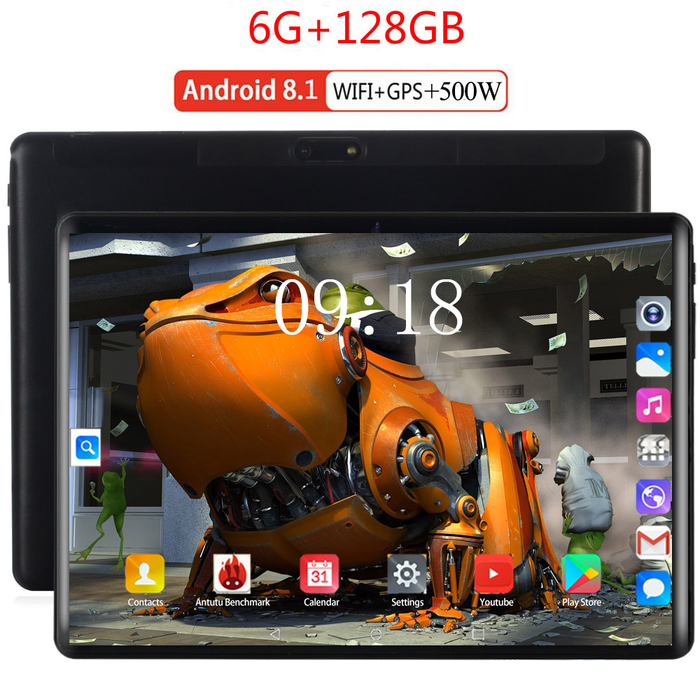 2020 Newest 10 Inch Tablets PC 4G LTE 2.5D Tempered Glass 6000mAh Android 8.0 OS GPS Wifi 6GB RAM 128GB ROM IPS Octa Core Tablet