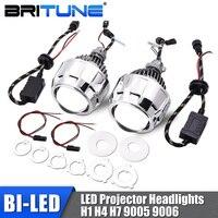 Bi led Lens 2.5 LED Projector Headlight Lenses H7 H4 9005 9006 Car Lights Accessories Tuning Diode Lamp Automobiles Kit Retrofit
