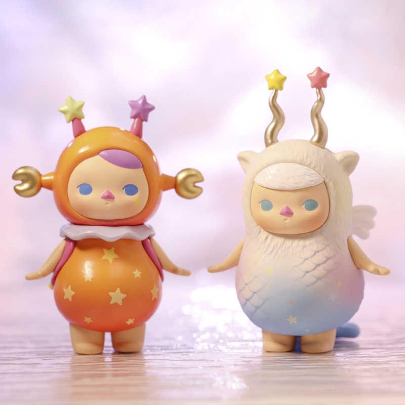 POP MART Pucky Horoskop Babys Sammlung Puppe Sammeln Nette Action Kawaii tier spielzeug zahlen kostenloser versand