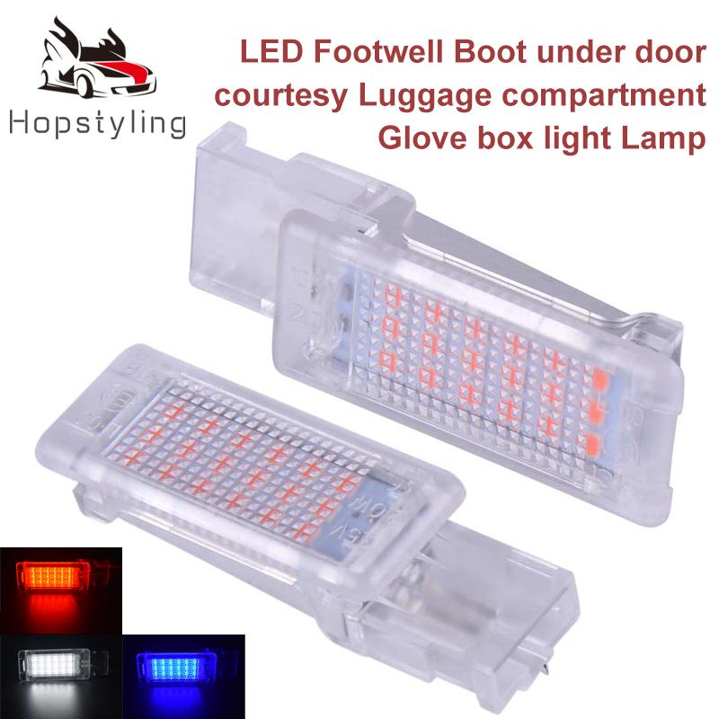 VW Polo 9N 269 31mm Red Interior Glove Box Bulb LED Light Upgrade