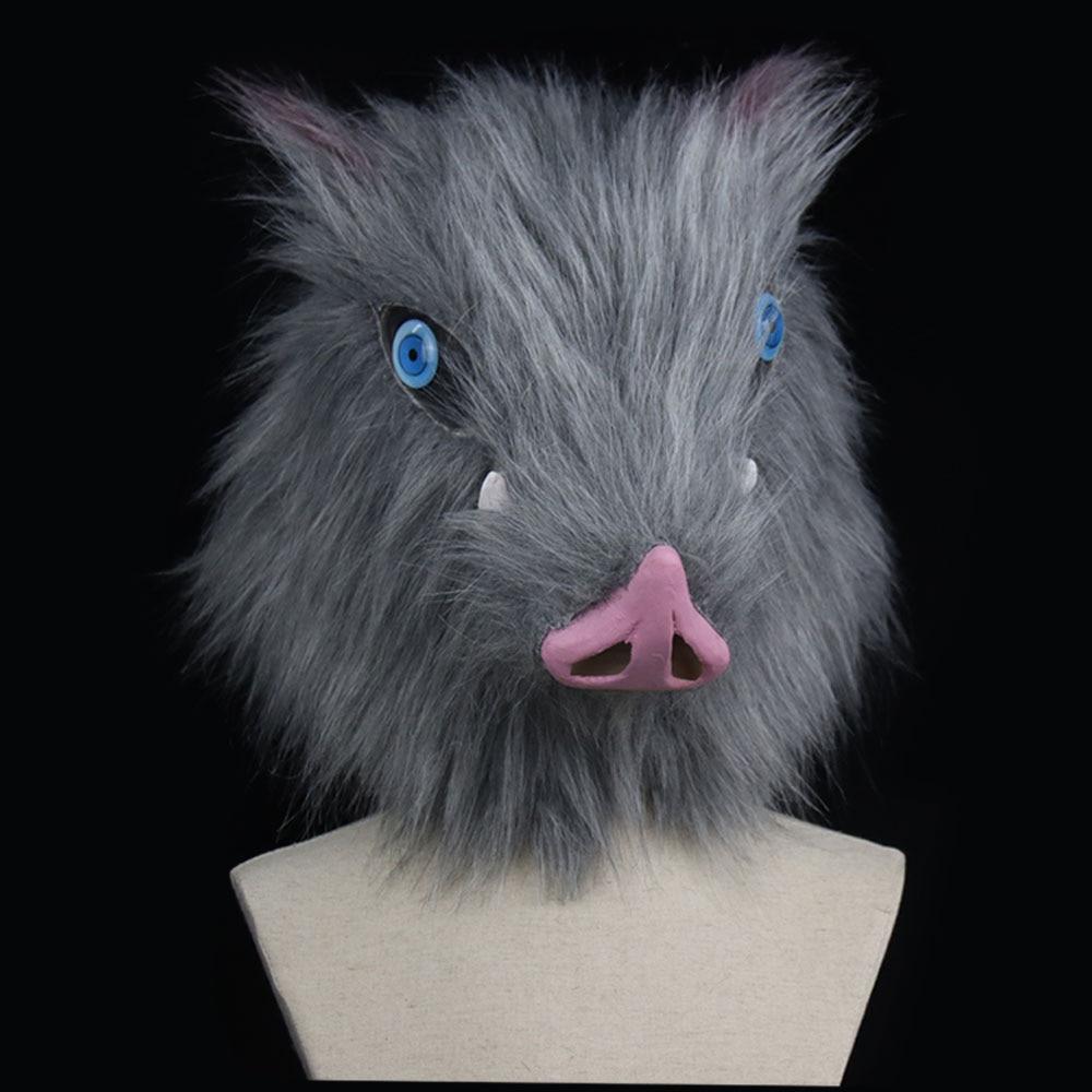Cosplay Demon Slayer Kimetsu no Yaiba Hashibira Inosuke Mask Wild Boar Mask Prop