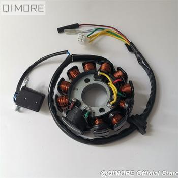 11-coil 6-wire 3 phrase DC fired Magneto Stator for Scooter Moped ATV Go Kart GY6 125 GY6 150 cc 152QMI 1P52QMI 157QMJ 1P57QMJ gy6 coil 80cc engine coil magneto motor stator gy6 50cc8 pole ac gy6 generator
