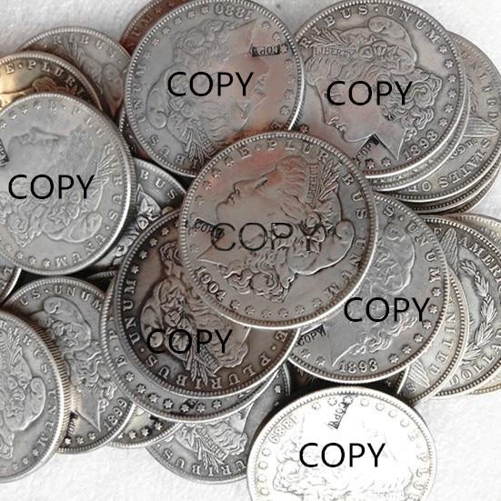 Un ensemble de (morgan dollar + Peace Dollar) pièce de copie plaquée argent (121 pièces)-in Pièces de collection from Maison & Animalerie    1