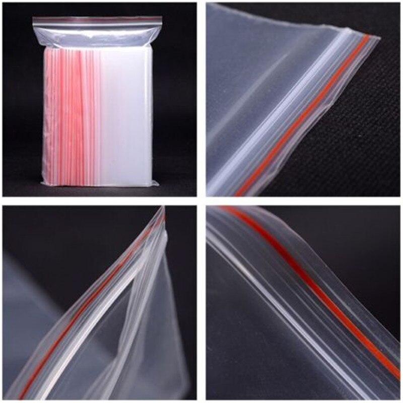 500Pcs/pack Small Zip Lock Plastic Bags Vacuum Storage Bag Resealable Transparent Bag Shoe Bag Poly Clear Bags Jewelry Ziplock