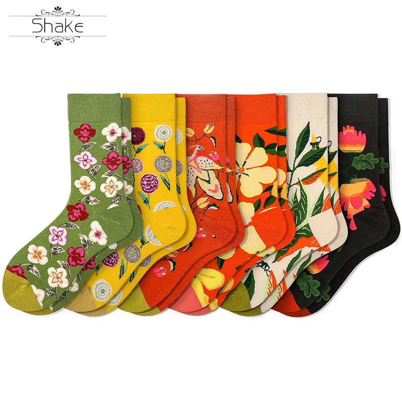 Cutom Dress Socks For Men & Women Dress Cool Colorful Fancy Novelty Funny Casual Cotton Crew Socks With Crazy Art Patterned