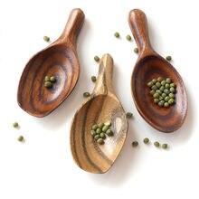 Творческий чайные ложки в виде листьев бытовые мини ручка 9*4