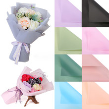 20 unidades/juego de papel de regalo translúcido impermeable para envolver Flores, papel de embalaje, ramo Floral, flores, decoración de boda, 45*40cm