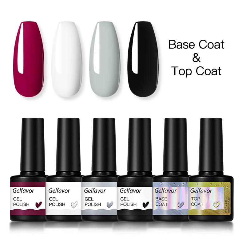 Gelfavor Gel Nail Polish Set Hybrid Varnishes 4/6Pcs Base Top For Nails UV LED Lamp Gel  Kits Manicure Nails Gel Polish Set 22