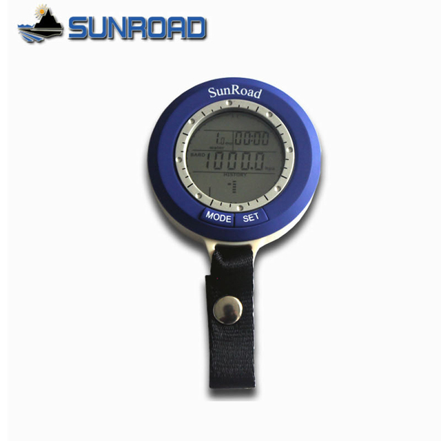 Outdoor Fishing Barometer Multi function Sunroad SR204 Mini LCD Digital Fishing Barometer Altimeter Thermometer Waterproof