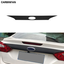Car Styling Rear Trunk Tailgate Door Tail Bottom Molding Stickers For Ford focus Sedan 2011-2014(China)