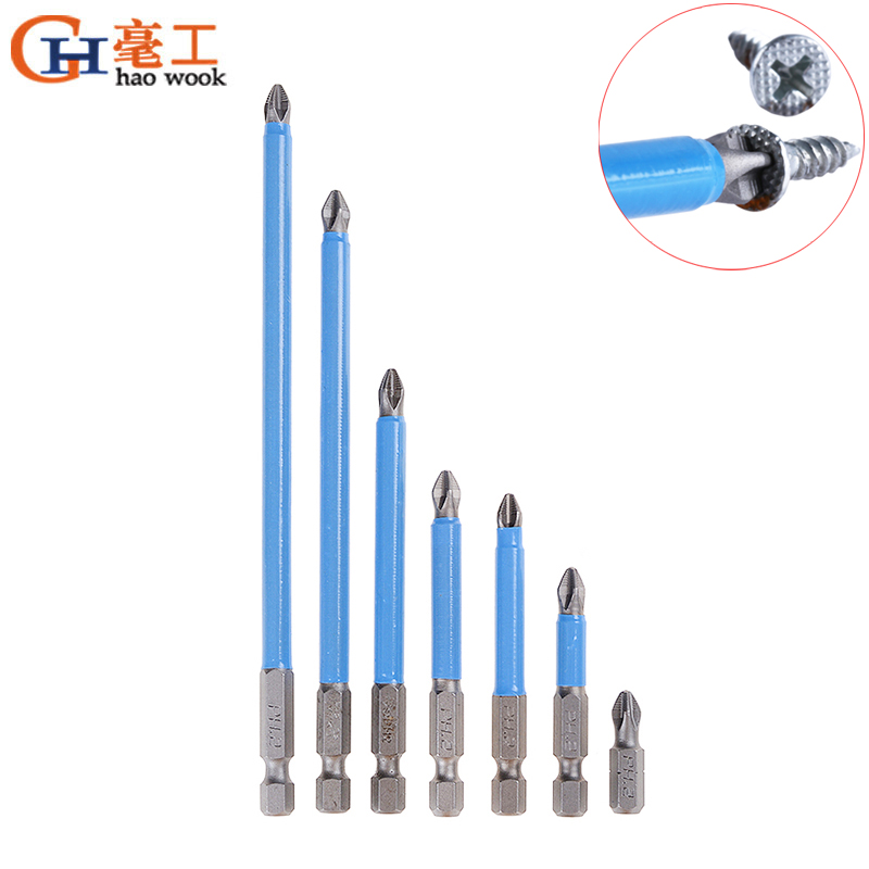 10 puntas de destornillador PH2 magn/éticas antideslizantes para herramientas el/éctricas de 90 mm