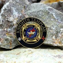 Masonic Lapel Pins Badge Mason Freemason  B27 KNIGHTS TEMPLAR  Zinc alloy material  exquisite souvenir gift