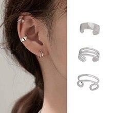 3 sztuk moda proste gładkie nausznica klipsy dla kobiet bez przekłuwania uszu fałszywe kolczyk na chrząstkę biżuteria prezenty