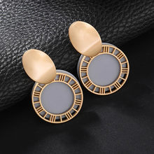 Korean Simple Circle Earrings Statement Vintage Wholesale Jewelry Unique Design Round Geometric Earrings For Women Brincos(China)