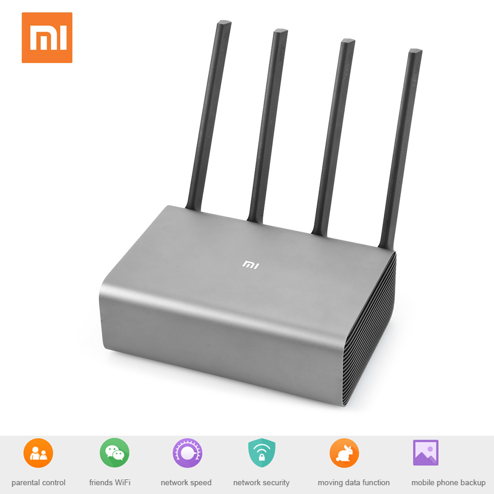 Xiao mi mi roteador pro r3p 2.4 ghz 5.0 ghz wi-fi wi fi inteligente sem fio wifi roteador 4 antena banda dupla 2600 mbps wi-fi dispositivo de rede