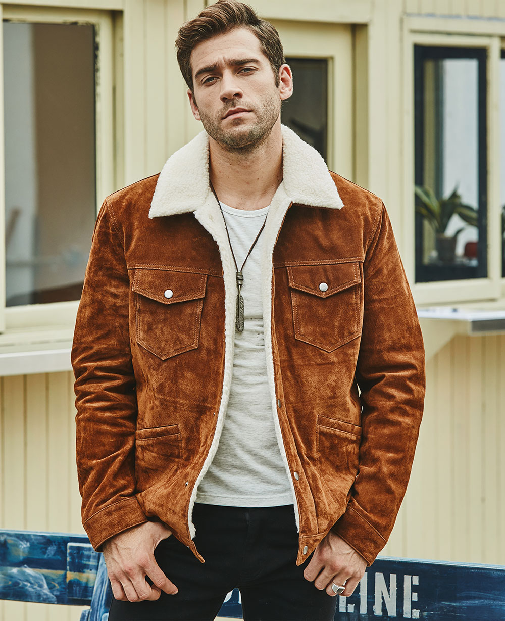 Hdb627811062747808b485785d21551315 FLAVOR New Men's Real Leather Jacket Genuine Leather With Faux Shearling Warm Coat Men