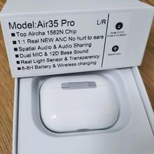 Air35 pro tws airoha 1562n chip sem fio bluetooth fone de ouvido com caso carregamento super bass verdadeiro sensor luz pk i90000 i99999