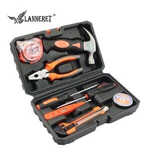 Image 1 - LANNERET 8 stücke Hand Tool Set Tool Kit mit Schraubendreher Test Bleistift Hammer Hand Werkzeuge BMC Box