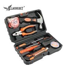 LANNERET 8pcs Hand Tool Set Tool Kit met Schroevendraaier Test Potlood Hamer Handgereedschap BMC Doos