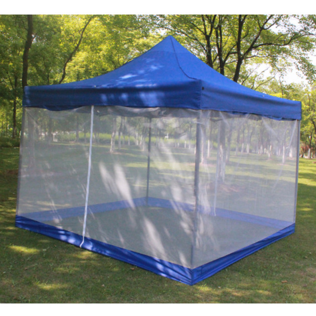 3x3m Outdoor Gazebo Wrap Cover 4 Sides Mosquito Net Wall Anti insect Tent Surface Replace Cloth
