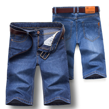 2018 Summer New Style MEN'S Jeans Shorts Men Straight Slim Elasticity Shorts Youth MEN'S Middle Pants Fashion 1