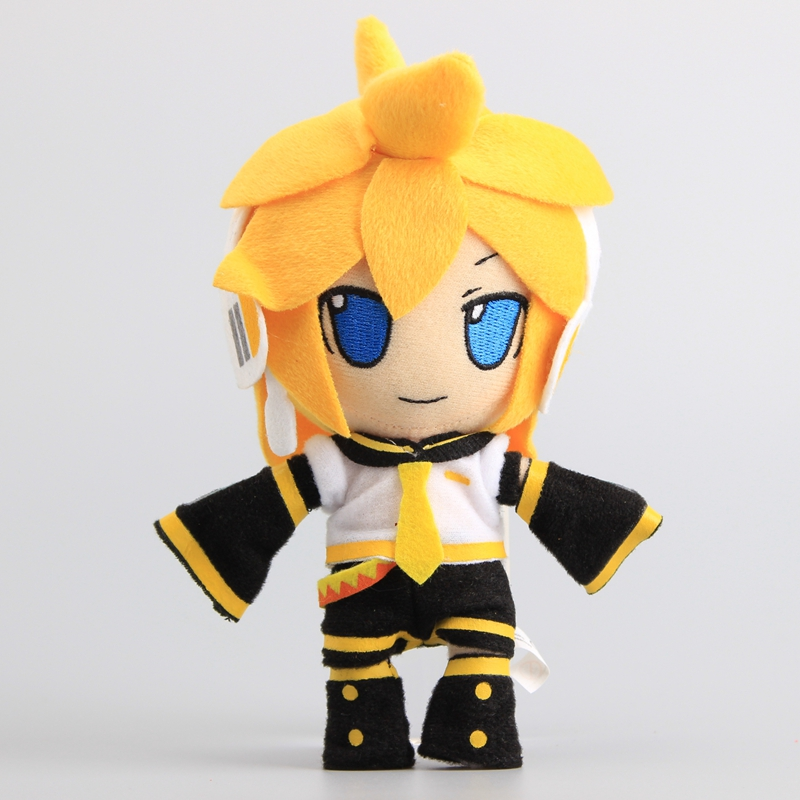 18 Cm Anime Hatsune Miku Kagamine Len Plush Stuffed Toys Doll Peluche New Arrival Women Kids Birthday Gift